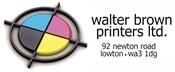 walter brown printers logo