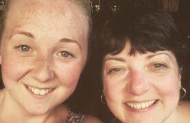 Rebecca and mum